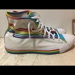 Converse Chuck Taylor Rainbow Pride High Tops RARE